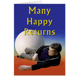 Tarjeta Muchas devoluciones felices