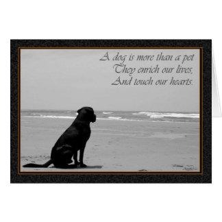 Tarjeta Muerte de un mascota, muerte del perro, triste,