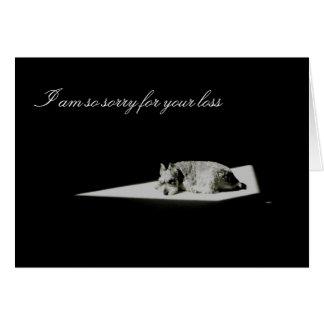 Tarjeta Muerte del mascota, condolencia