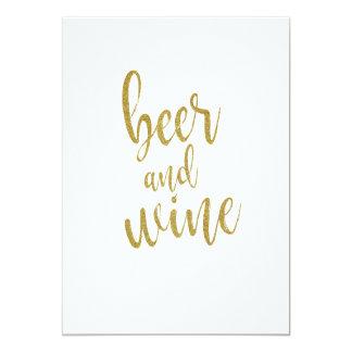 Tarjeta Muestra asequible del brillo del oro de la cerveza