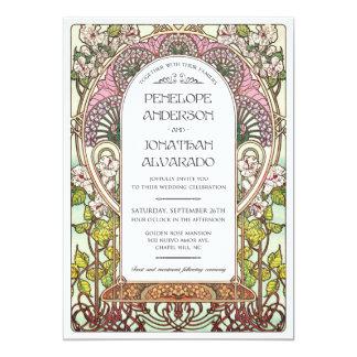 Tarjeta Muestra del boda de Nouveau del arte