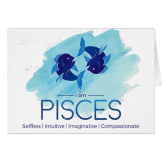 Tarjeta Muestra del zodiaco de Piscis