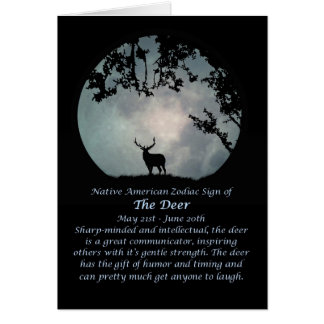 Tarjeta Muestra del zodiaco del nativo americano de los