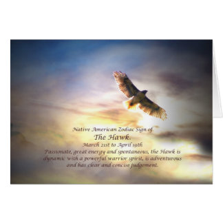 Tarjeta Muestra del zodiaco del nativo americano del