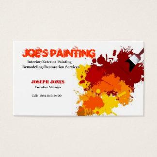 Tarjeta-Muestra II del negocio de la pintura Tarjeta De Negocios