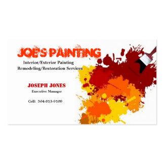 Tarjeta-Muestra II del negocio de la pintura Tarjetas De Visita
