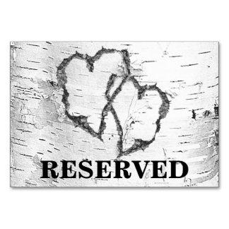 Tarjeta Muestra reservada de la tabla del boda de los