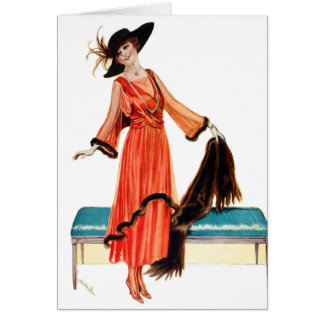 Tarjeta Mujer del Victorian de Edwardian de la vintage