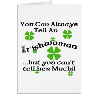 Tarjeta Mujer irlandesa - usted puede decir siempre…