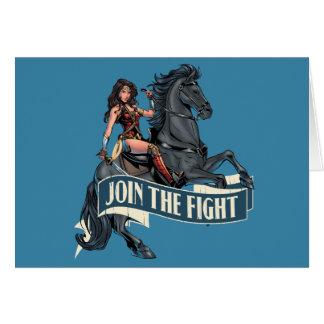 Tarjeta Mujer Maravilla en arte cómico del caballo