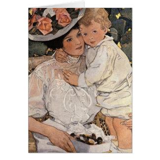Tarjeta Mujer y niño