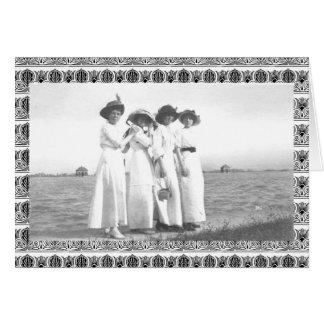 Tarjeta Mujeres de Edwardian del vintage