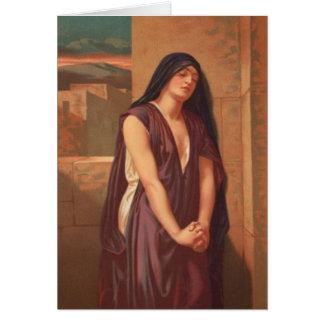 Tarjeta Mujeres en la biblia - la viuda de Nain