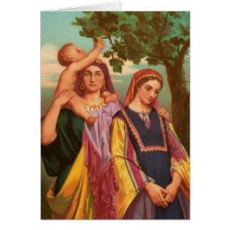 Tarjeta Mujeres en la biblia - Raquel y Leah