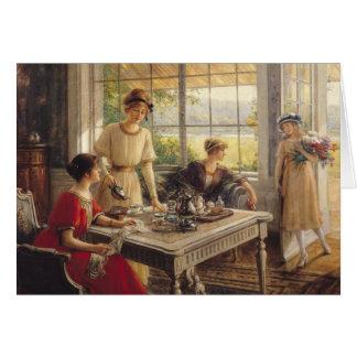 Tarjeta Mujeres que toman té