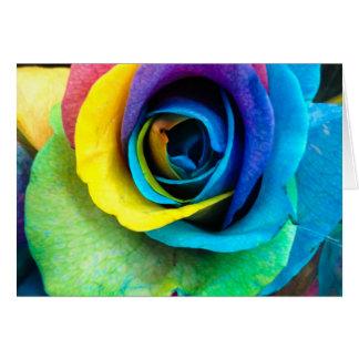 Tarjeta ¡Mulit-Coloreado color de rosa por SnapDaddy,