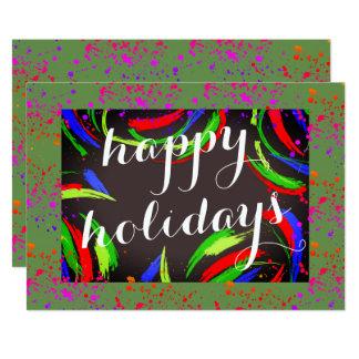 Tarjeta Multicolor y diversión buenas fiestas -