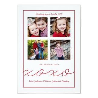 Tarjeta múltiple de la foto de familia del el día invitación 12,7 x 17,8 cm