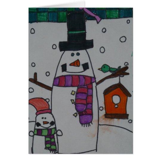 Tarjeta Muñeco de nieve