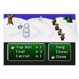 Tarjeta muñeco de nieve de 16 bits del RPG