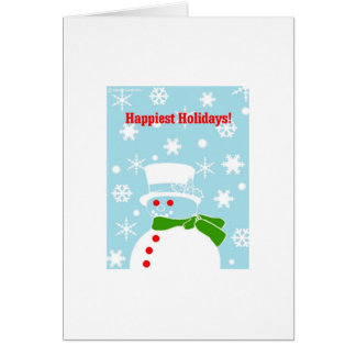 Tarjeta Muñeco de nieve del navidad de la cadera