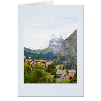 Tarjeta Murren en Suiza