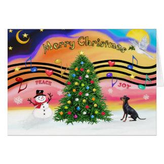 Tarjeta Música 2 del navidad - Manchester Terrier