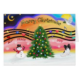 Tarjeta Música 2 del navidad - Papillon