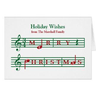 Tarjeta musical del día de fiesta del navidad