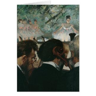 Tarjeta Músicos de la orquesta de Edgar Degas el  