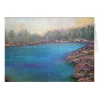 """Tarjeta """"Muskoka apuntala"""" arte del paisaje"""