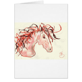 Tarjeta Mustango rojo