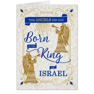 Tarjeta Nace el rey del navidad religioso de Israel