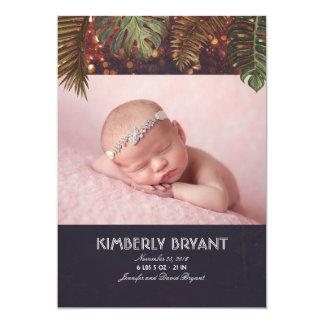 Tarjeta Nacimiento del bebé de la foto de la playa de las