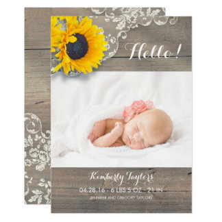 Tarjeta Nacimiento recién nacido de la foto del bebé del