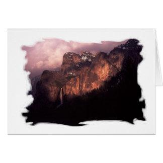 Tarjeta Nacional de Yosemite de la cascada del punto de