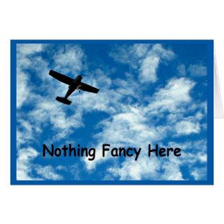 Tarjeta Nada de lujo apenas un avión le agradece