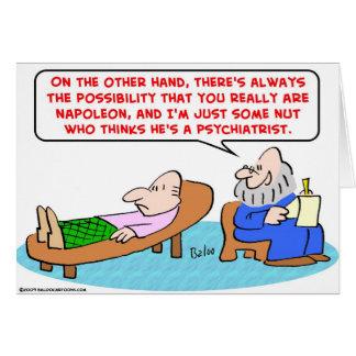 Tarjeta napoleon algún psiquiatra de la nuez