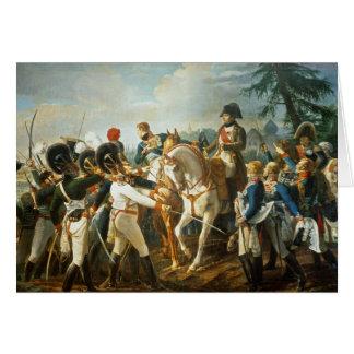 Tarjeta Napoleon y el Bavarian y el Wurttemberg