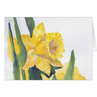 Tarjeta Narcisos de la primavera