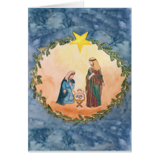 Tarjeta Natividad del navidad