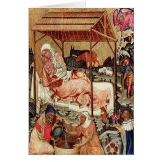 Tarjeta Natividad = Meister von Hohenfurth 1430.