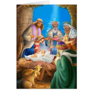 Tarjeta Nativity of Jesus x-mas image for christmas cards
