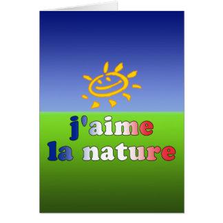 Tarjeta Naturaleza del amor de la naturaleza I del La de