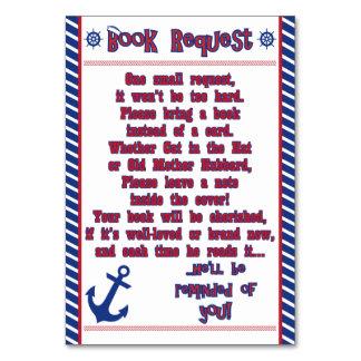 Tarjeta náutica de la petición del libro de la