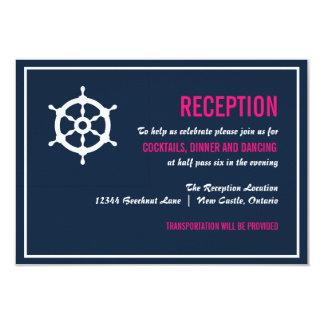 Tarjeta náutica de la recepción de los azules invitación