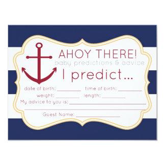 Tarjeta náutica de las predicciones y del consejo