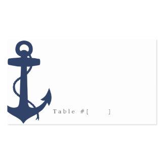 Tarjeta náutica del acompañamiento tarjeta personal