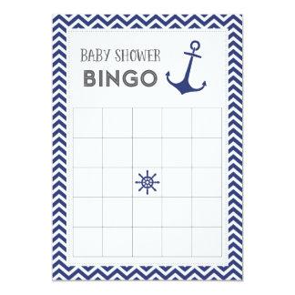 Tarjeta náutica del bingo de la fiesta de invitación 12,7 x 17,8 cm