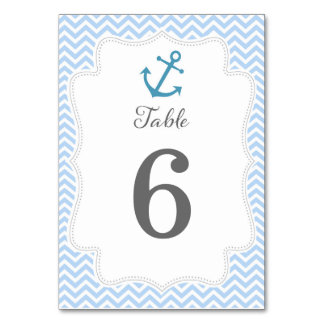 Tarjeta náutica del número de la tabla del boda